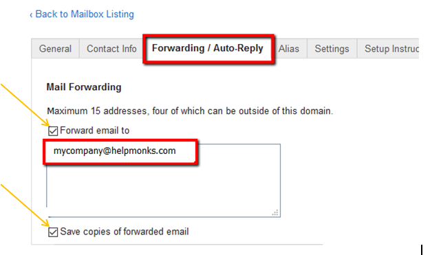 Forward Emails from Rackspace to Helpmonks - How-Tos